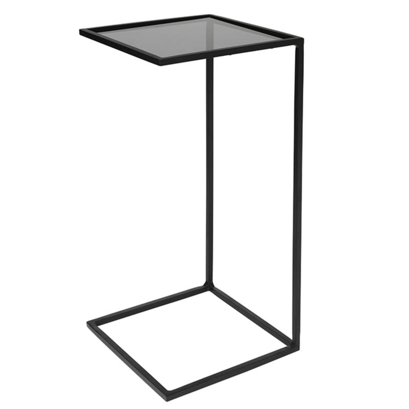 Billede af Bord ´Tania´ Glas /Stål Stel i Sort